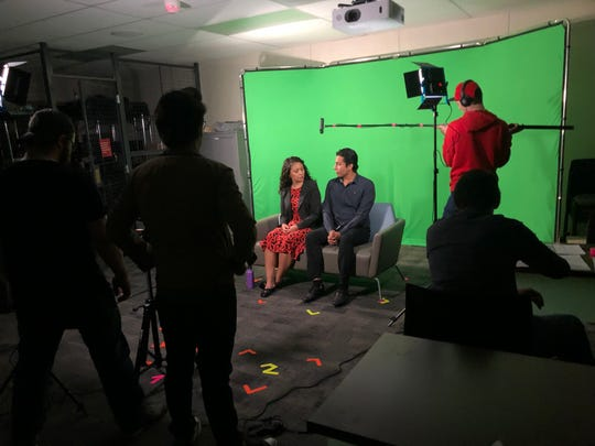 "Ileana Mendoza Sosa and Dario Mojicain take part in ""500 Days of Summer"" in a College of the Desert on-camera acting and voice over class."