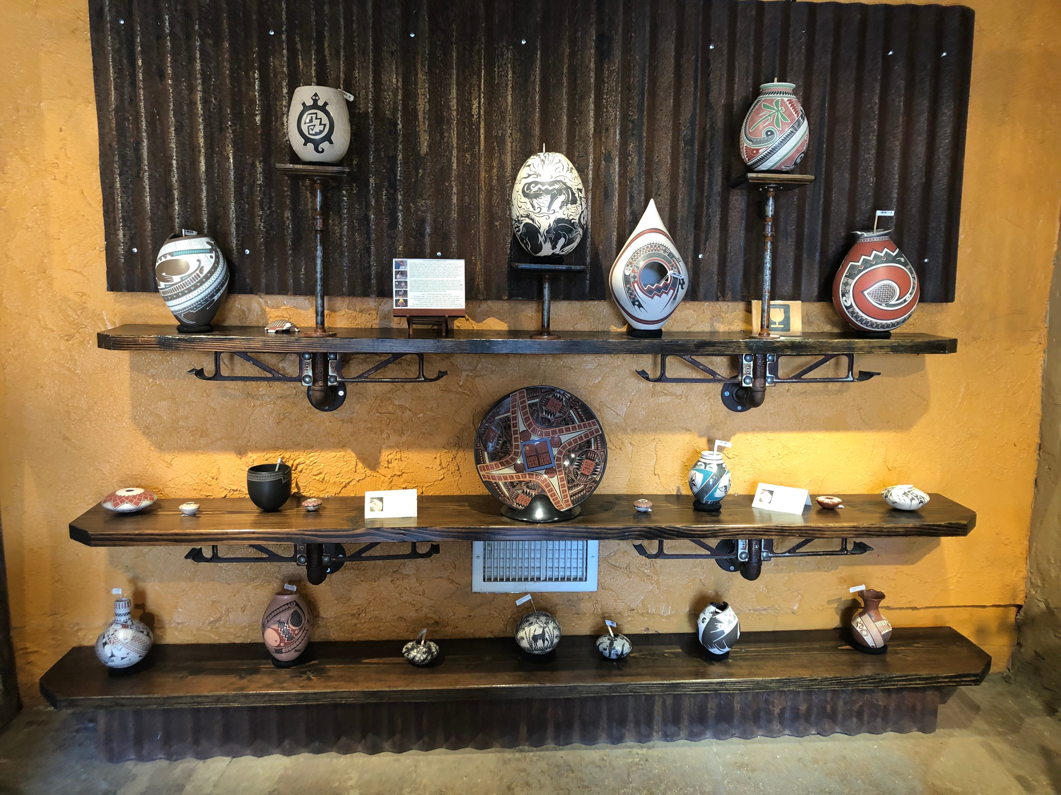 Pottery for sale at Cabot's Pueblo Museum in Desert Hot Springs