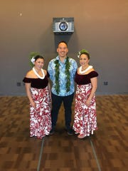 Kawika Alfiche and his group Hālau o Keikiali`i will be teaching Hawaiian dance and sharing Hawaiian music at the Step By Step Dance Studio on Oct. 7, 2019.