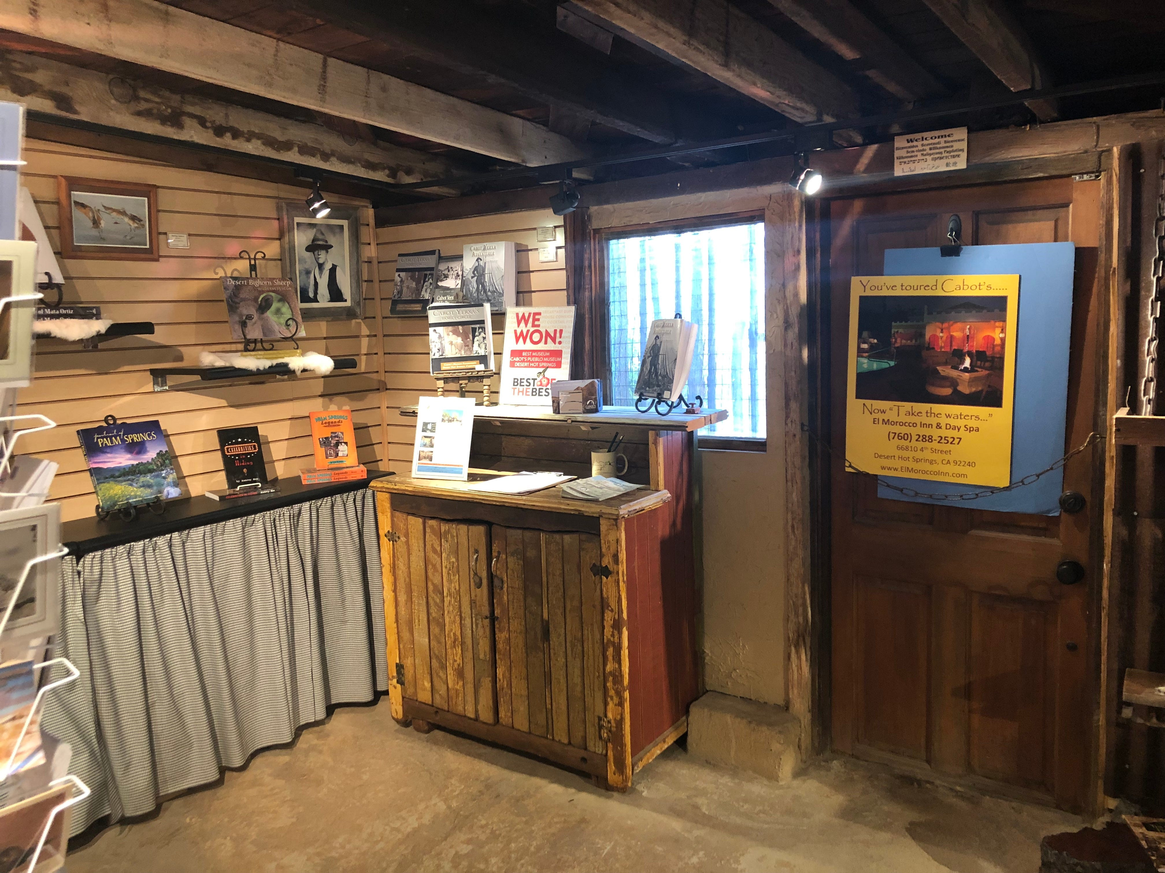 The gift shop at Cabot's Pueblo Museum in Desert Hot Springs.