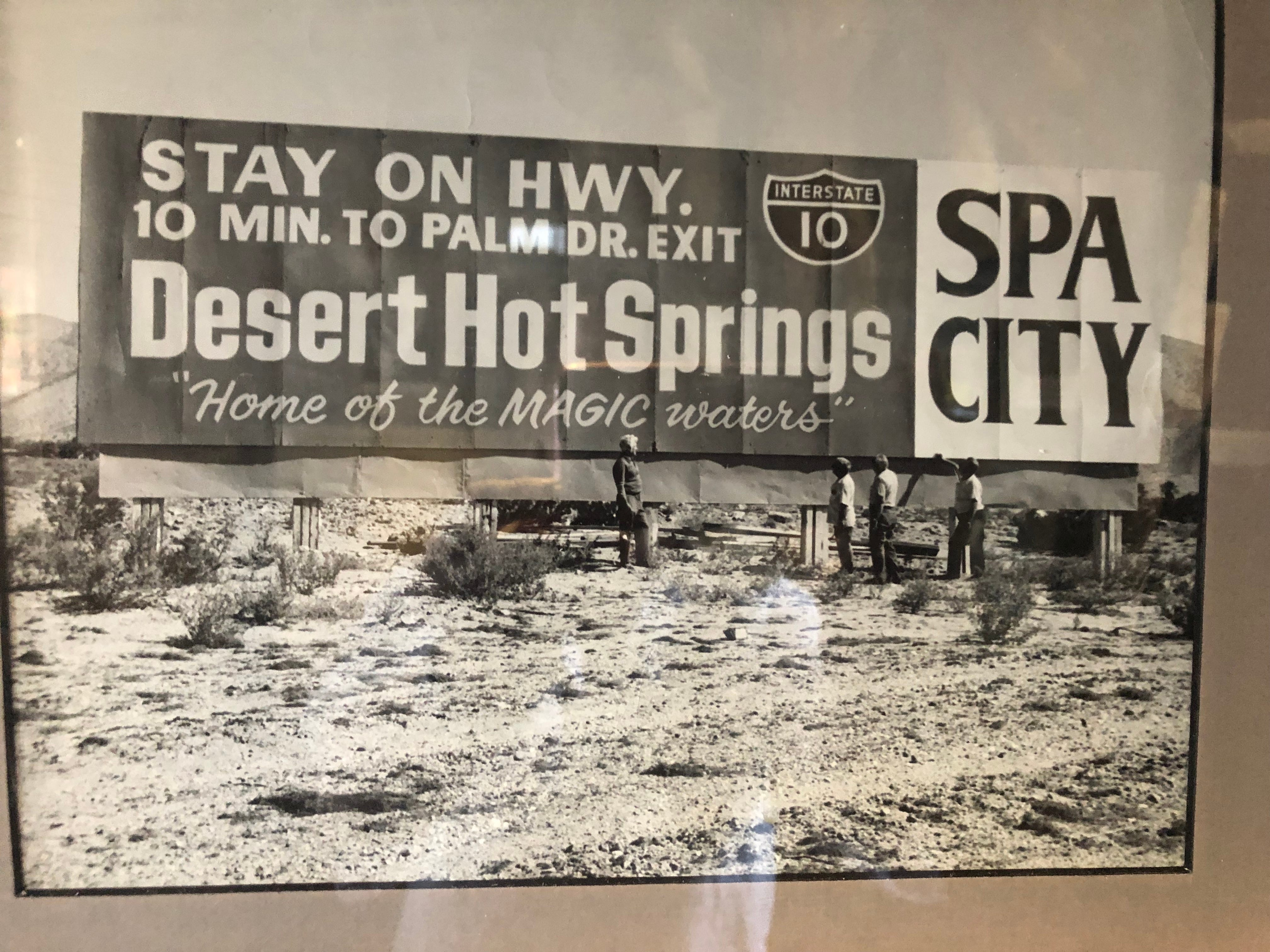Old photo on display at Cabot's Pueblo Museum in Desert Hot Springs, Calif.