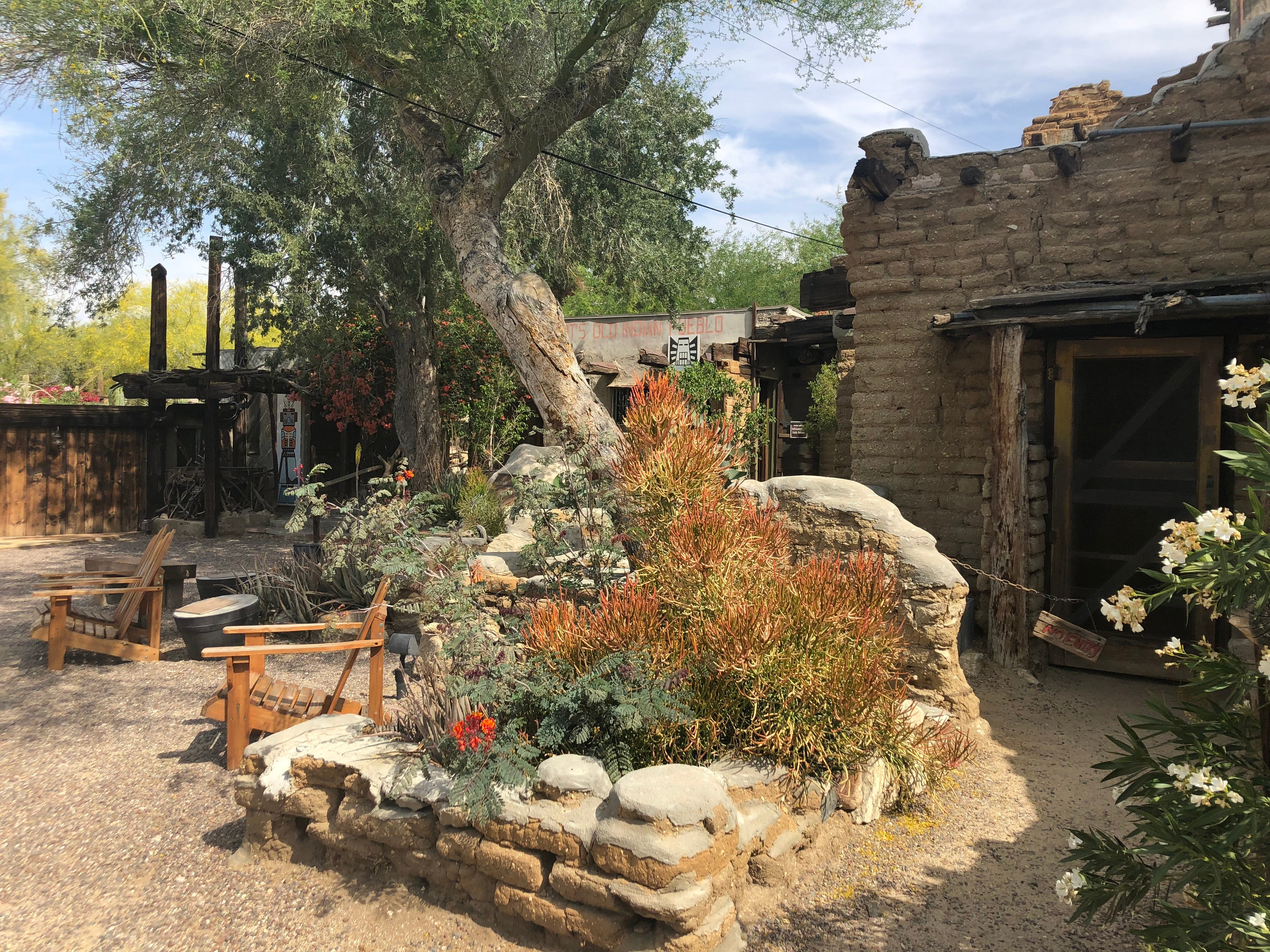 The grounds of the Cabot's Pueblo Museum in Desert Hot Springs.