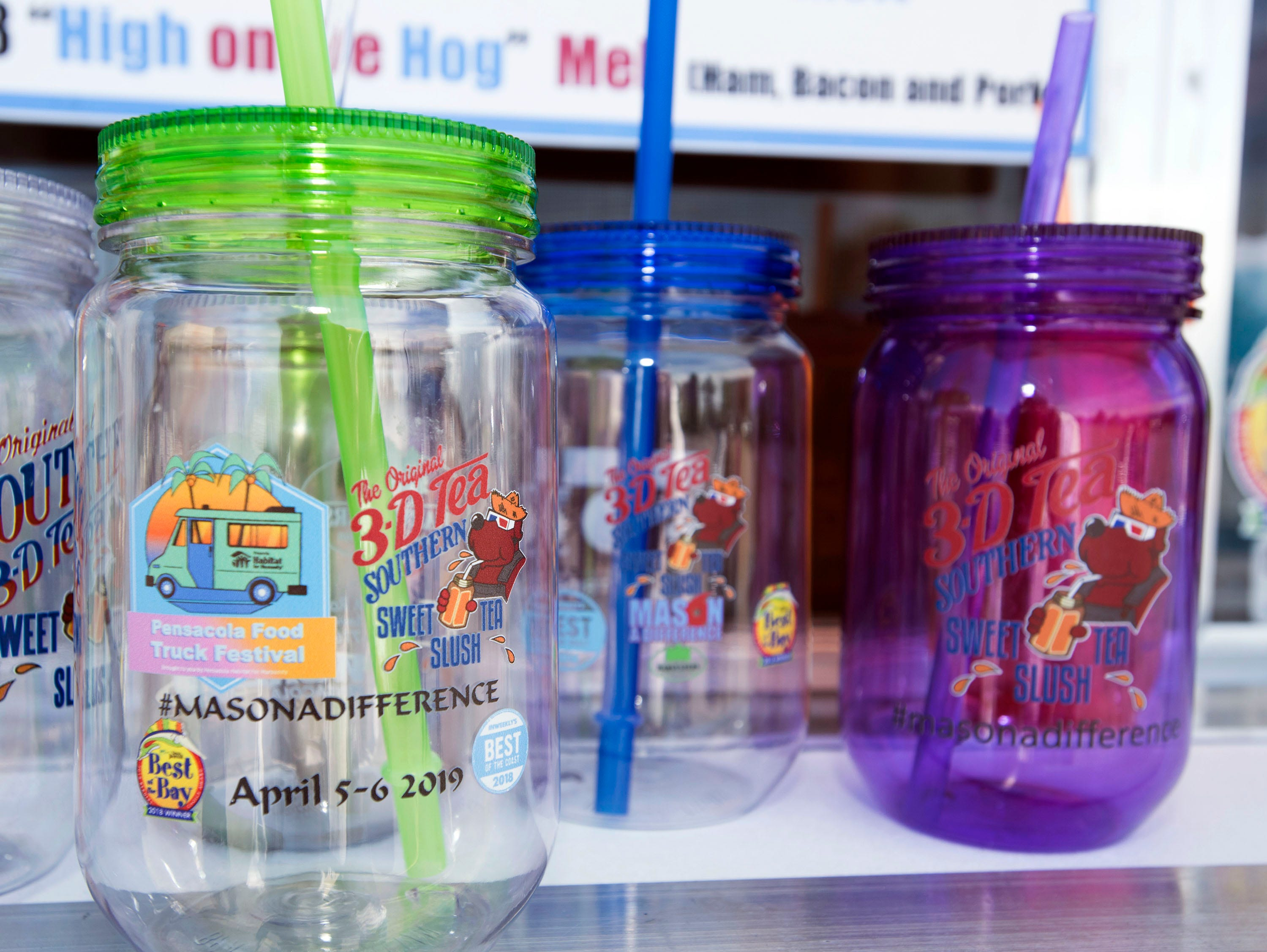 Sean DeSmet and his wife Brooke use these jars to raise funds for their charity, Mason a Difference.