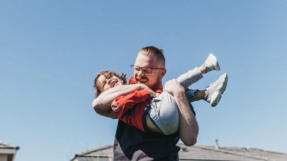 Corey Mardick, with son Liam, 4.
