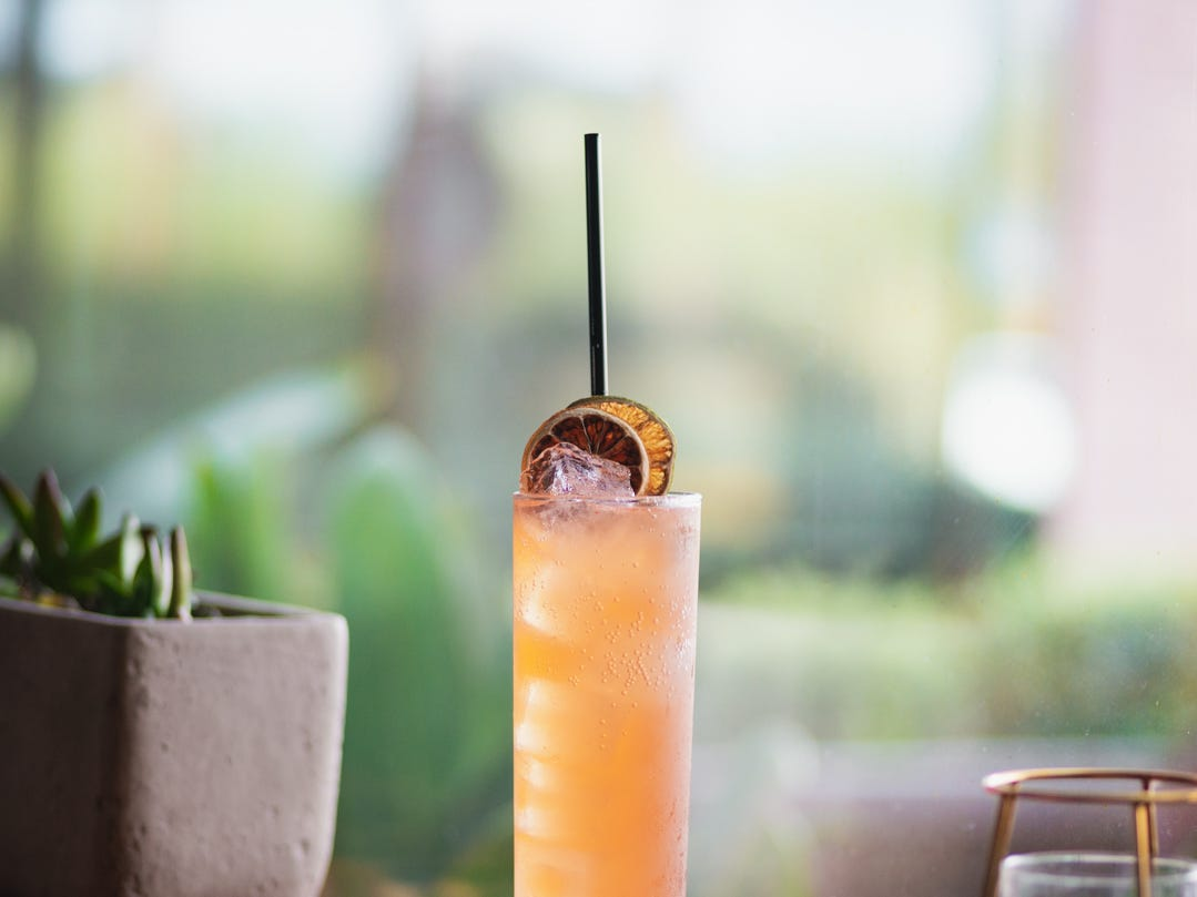 "The Drink Formerly Known as The Spritz is made with 72-hour, cold infused strawberry Aperol, which gives the drink ""refreshing, fizzy strawberry flavor,"" according to owner Joshua James."
