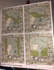 Glendale city planners presented four options for green space to be incorporated with residential homes that are planned for the old site of Glen Lakes Golf Course.