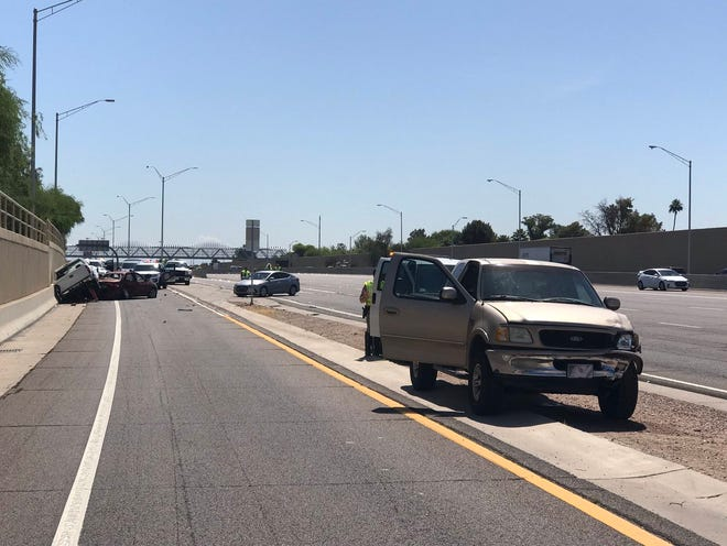 A man is dead after a fatal crash on U.S. 60 near McClintock Drive on May 14, 2019.