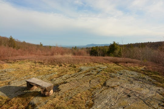 Take in a view of the South Taconic Range from the top of Harvey Mountain.