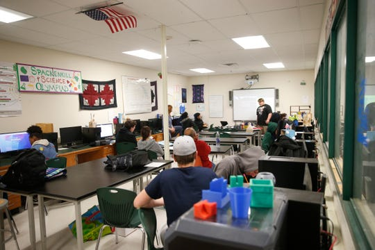 Inside the technology classroom at Spackenkill High School on May 10, 2019.