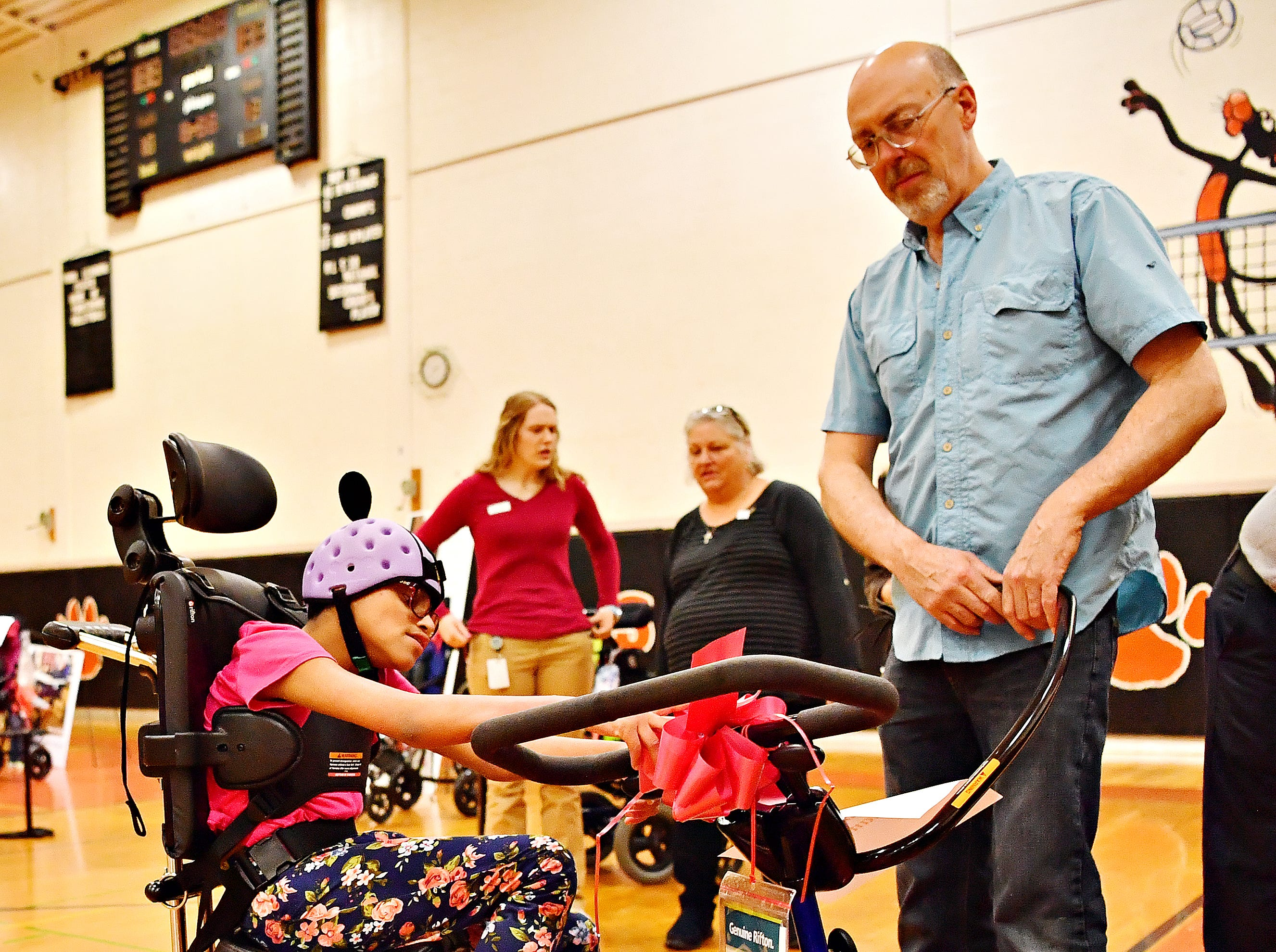 Variety, the Children's Charity, based in Pittsburg, presents adaptable equipment and communication devices to children with disabilities at York Learning Center in North York, Tuesday, May 14, 2019. Dawn J. Sagert photo