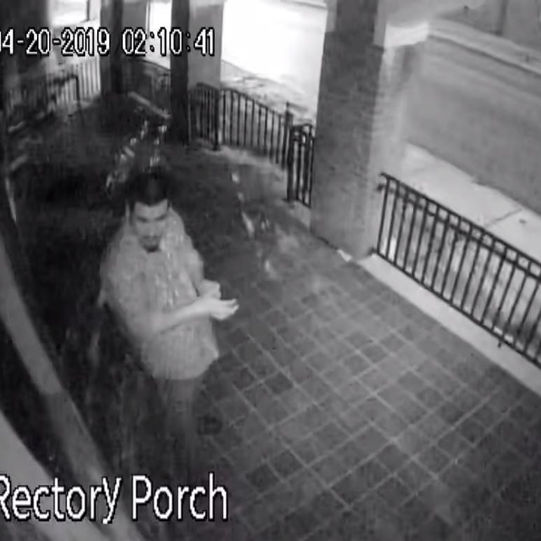 York City Police want to identify man who vandalized church