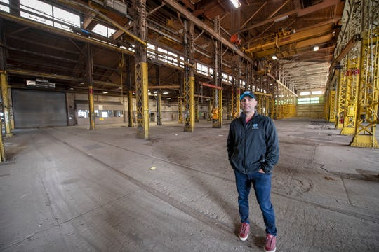 Bill Hynes, CEO and founder of UFD, stands inside one of the former Metso buildings that he plans on renovating.