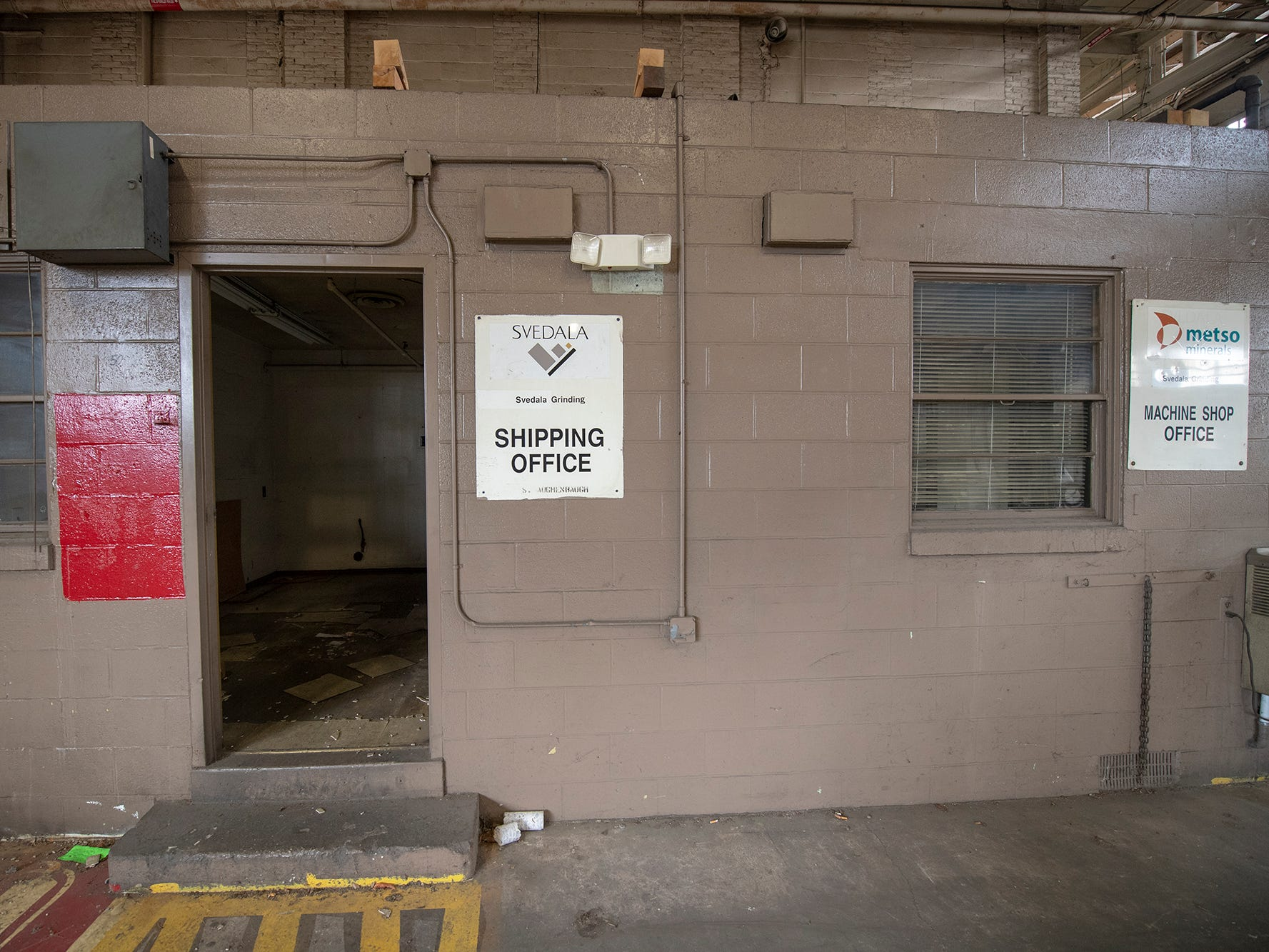 Empty offices in the former Metso complex wait for a new purpose.
