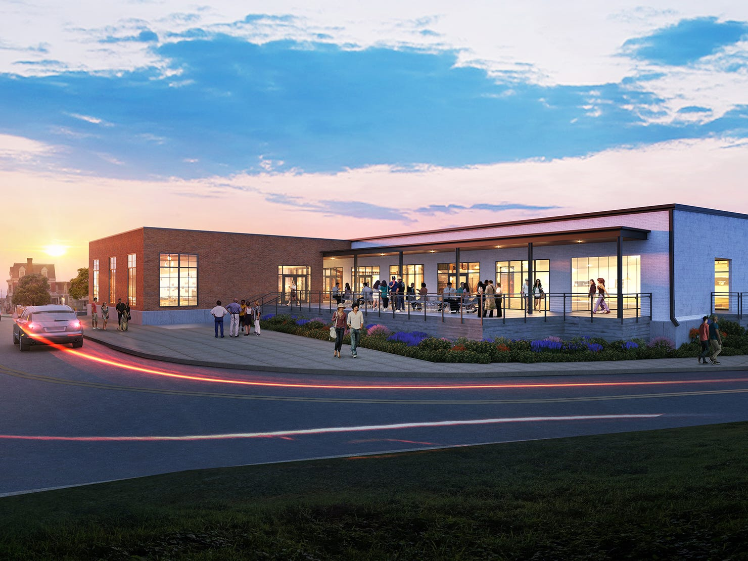 An artist's rendering of what one of the former Metso buildings might look like from the intersection of Arch Street and Loucks Mill Road. Metso Corp. closed down its manufacturing facility in York in 2016, but the old buildings may soon have new life.