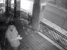York City Police hope to ID this man, suspected of  vandalizing a church.