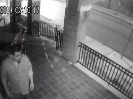 Another shot of a York church vandalism suspect.