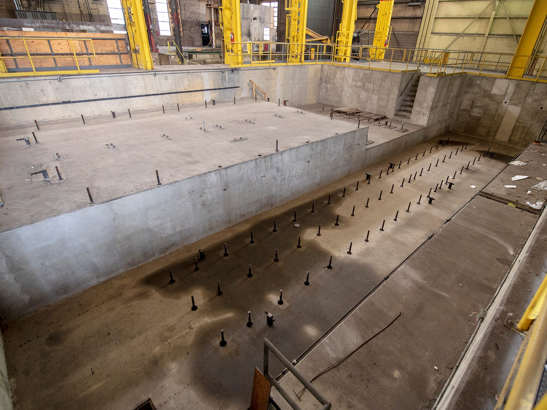 A recently constructed pit in the former Metso complex was made for large machinery.
