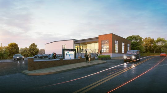 An artist's rendering of what one of the former Metso buildings might look like from Arch Street.
