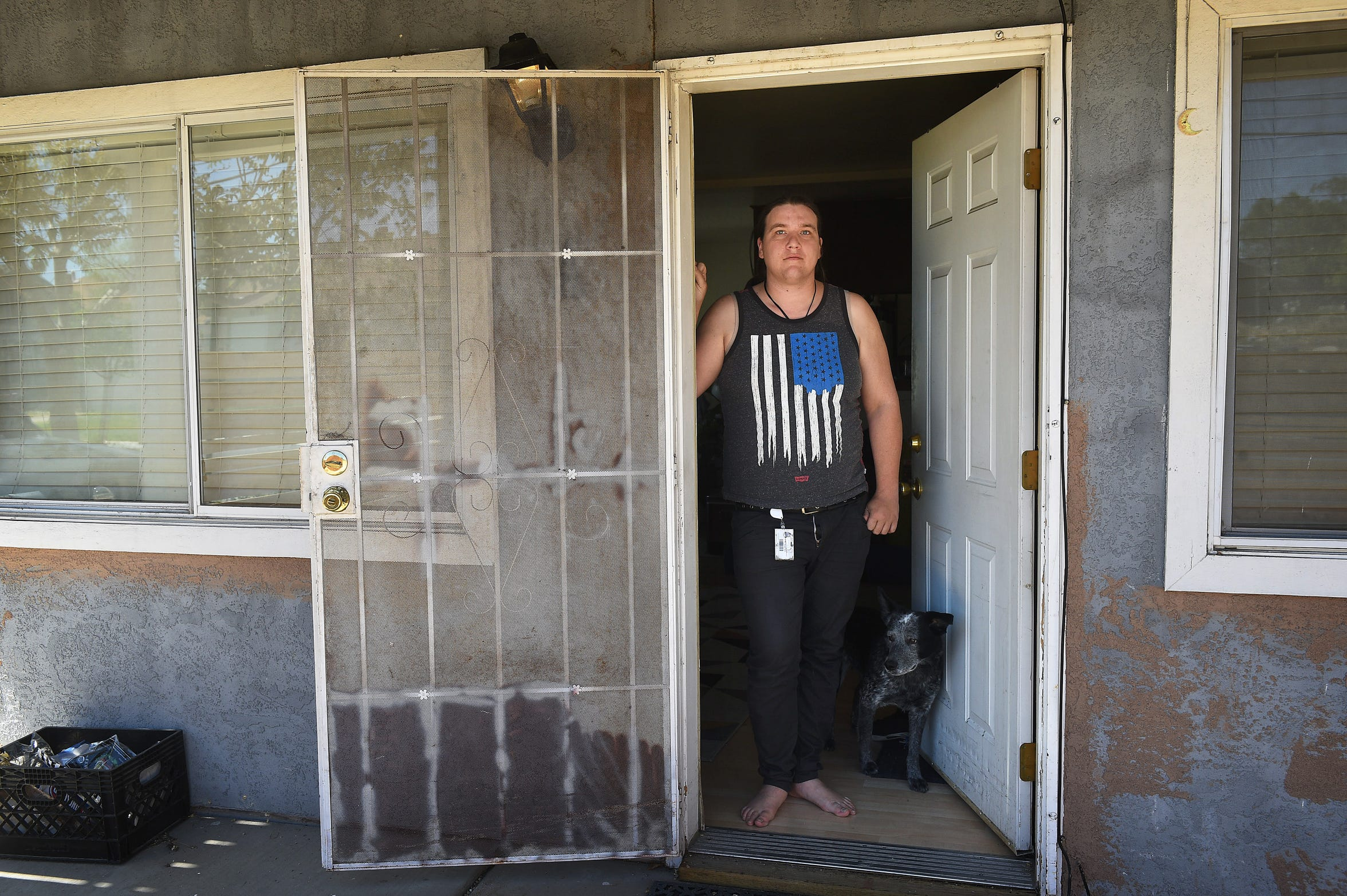 Renter Brooke Noble poses for a portrait at 715 Wheeler Ave. in Reno on May 10, 2019.