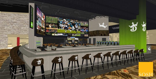 Here is a rendering of the new sportsbook set to open in summer 2019 at the del Lago Casino in the Finger Lakes.