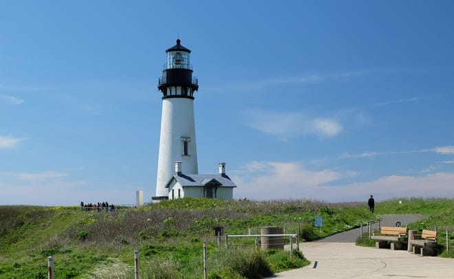 The Yaquina Head Lighthouse offers tours which offer visitors a peak at the lens at the top.