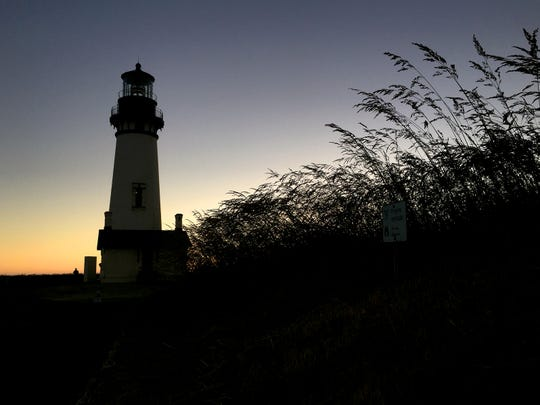 Yaquina Head Lighthouse sits about a mile from Highway 101 north of Newport, Oregon.