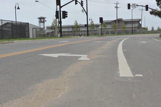Improvements made along Rogge Road just north of Salinas.