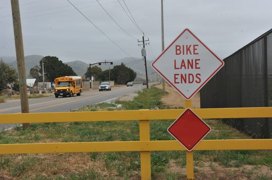 Improvements made along Rogge Road just north of Salinas.