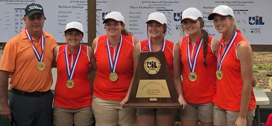 The Robert Lee High School girls golf team won the UIL Class 1A state championship in Austin on Tuesday, May 14, 2019.