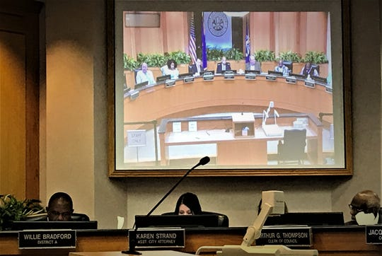 City Council in a projection May 13 at an administrative work session.