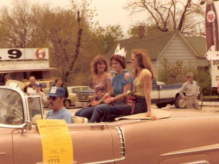 Queens in the Sucker Days parade. A vintage Sucker Days photo from the city of Nixa's collection.