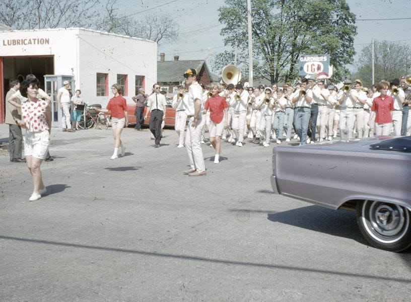 The Sucker Day Parade in 1966. A vintage Sucker Days photo from the city of Nixa's collection.