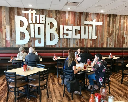 The Big Biscuit in the Brentwood South shopping center opened on May 7.