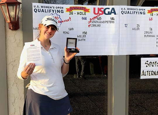 Reagan Zibilski, a freshman at Springfield Catholic High School, has a chance to participate in the U.S. Open.