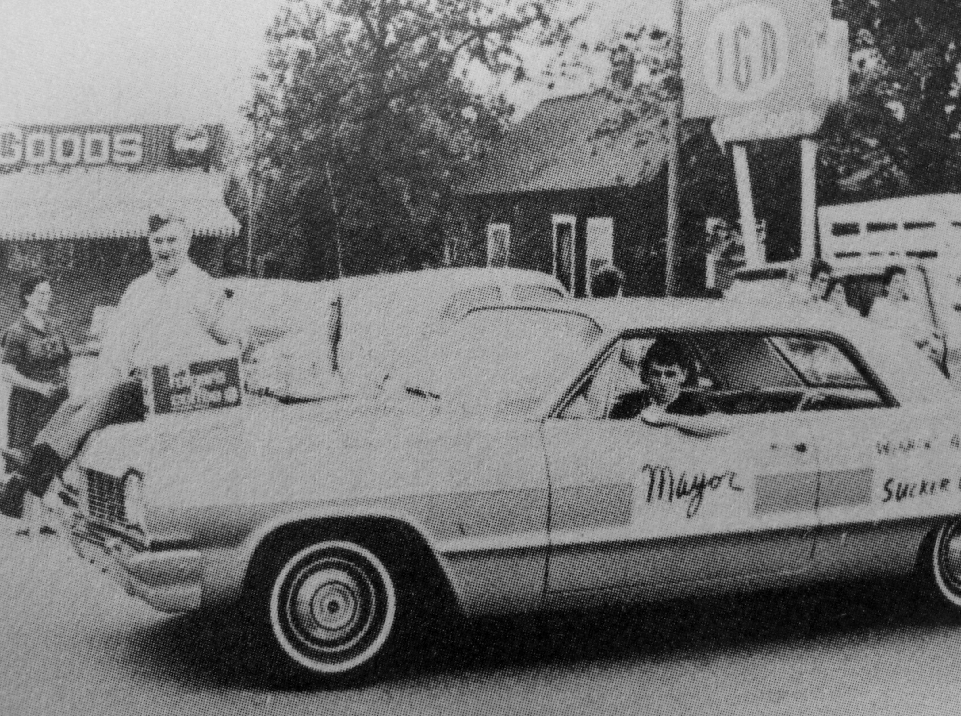 Mayor Gold in a Sucker Day parade. A vintage photo from the city of Nixa's collection.