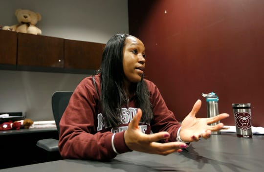 Missouri State Lady Bears Head Coach Amaka Agugua-Hamilton talks about her life and road to becoming the head coach of the Lady Bears in her office on Friday, May 10, 2019.