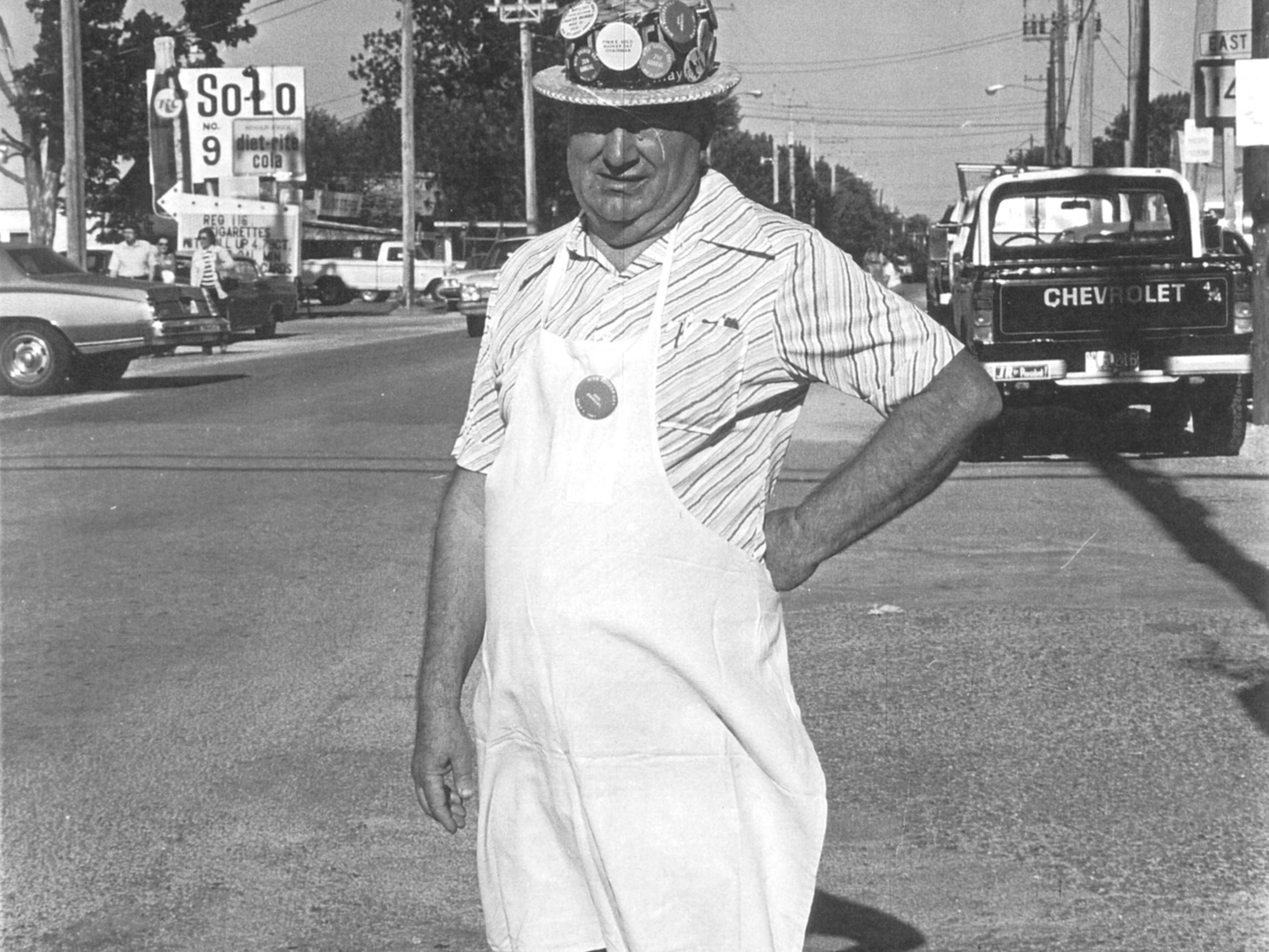 Finis Gold at Nixa's crossroads. A vintage Sucker Days photo from the city of Nixa's collection.