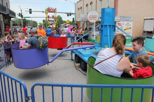 Carnival rides are part of the fun at Sucker Days.