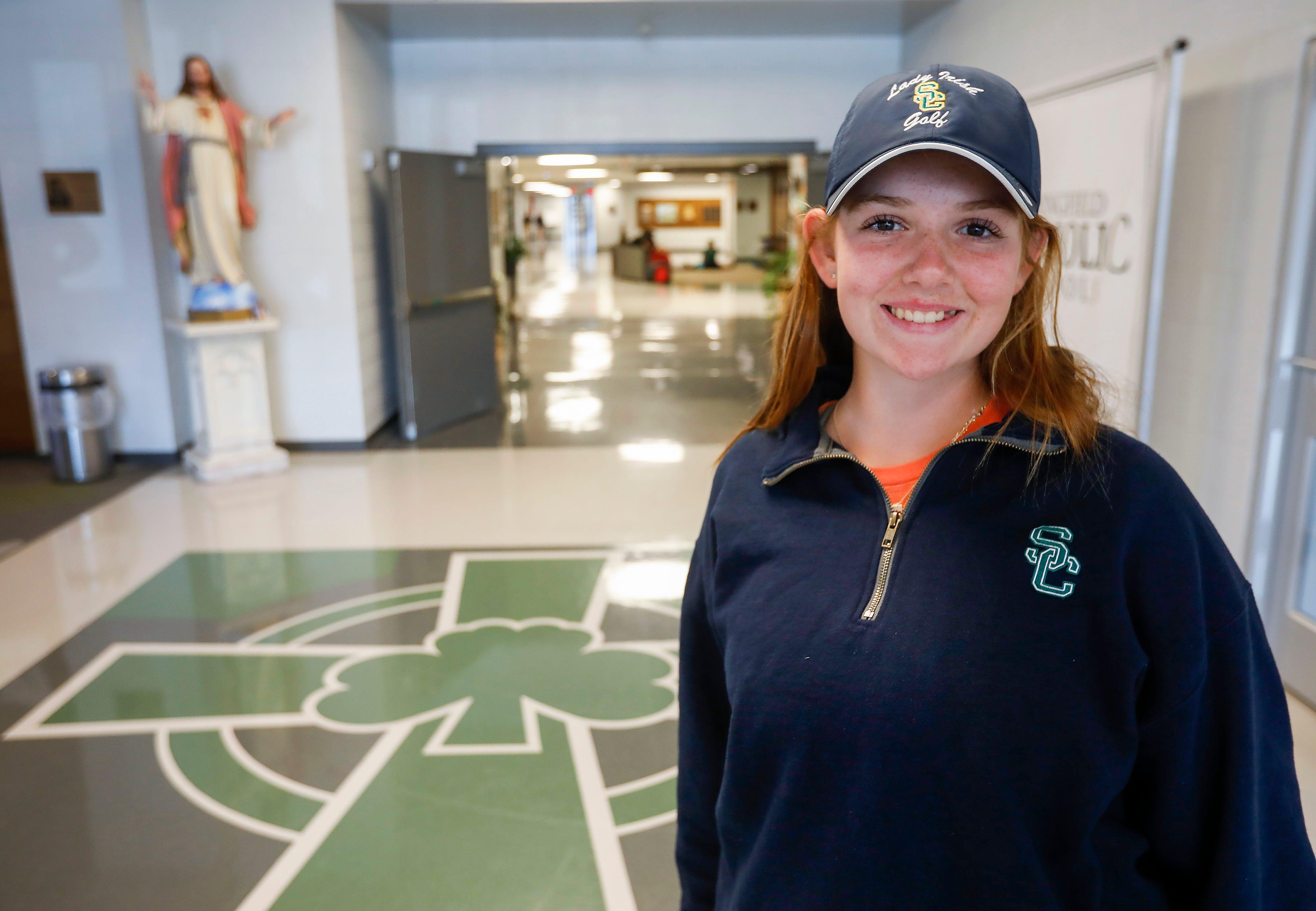 Reagan Zibilski, a freshman at Springfield Catholic High School, has a chance to participate in the U.S. Open.