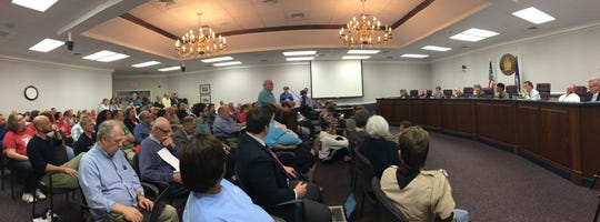 It was standing room only in the Waynesboro City Council Chambers in a tax hearing last year.
