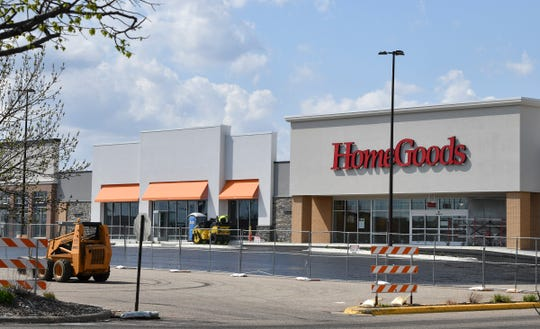 HomeGoods and Ulta storefronts take shape in the space formerly occupied by Sears Tuesday, May 14, at Crossroads Center in St. Cloud.