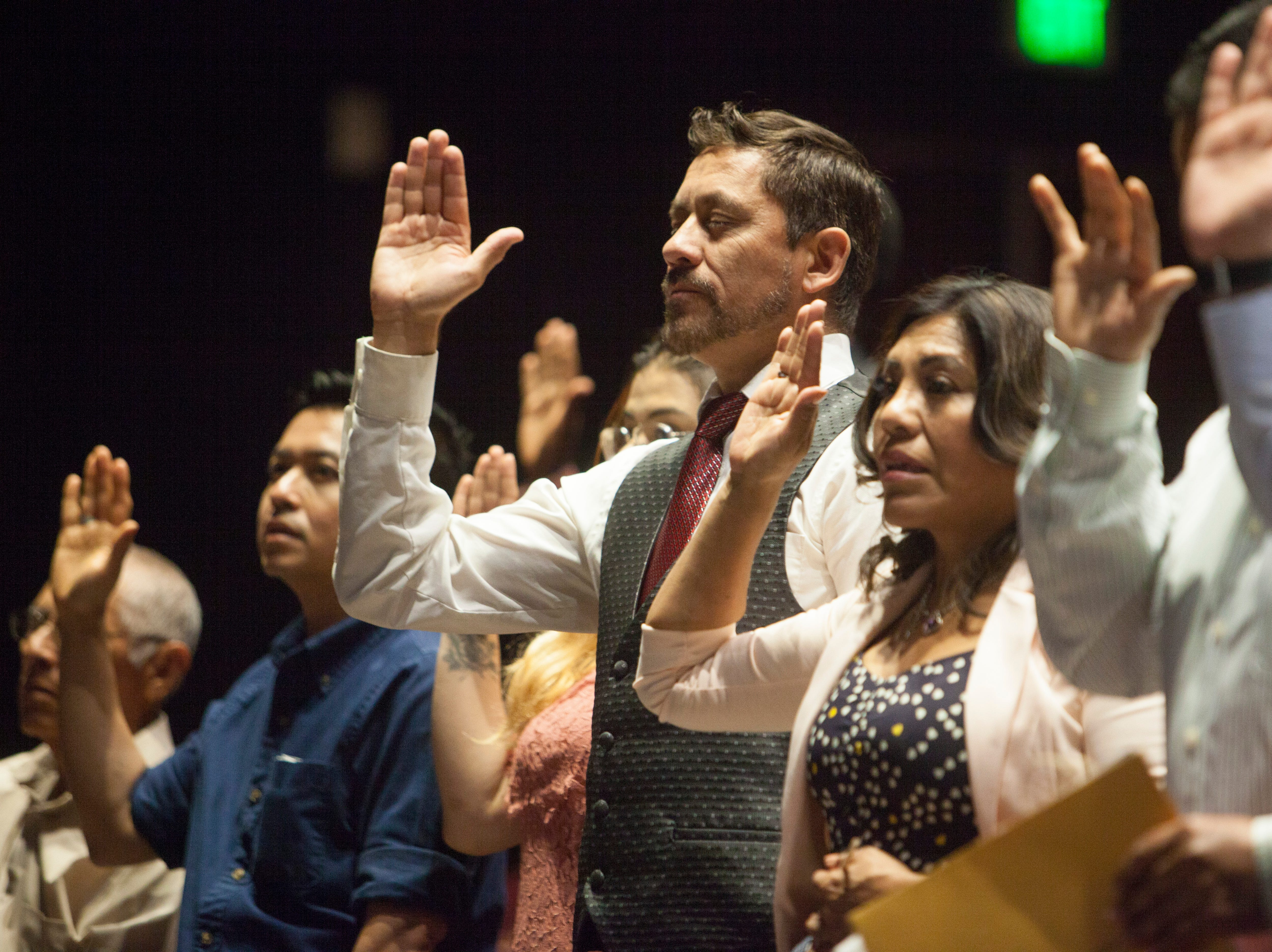 A group of 31 new U.S. citizens was sworn in during a naturalization ceremony at Dixie State University on Tuesday, May 14, 2019.