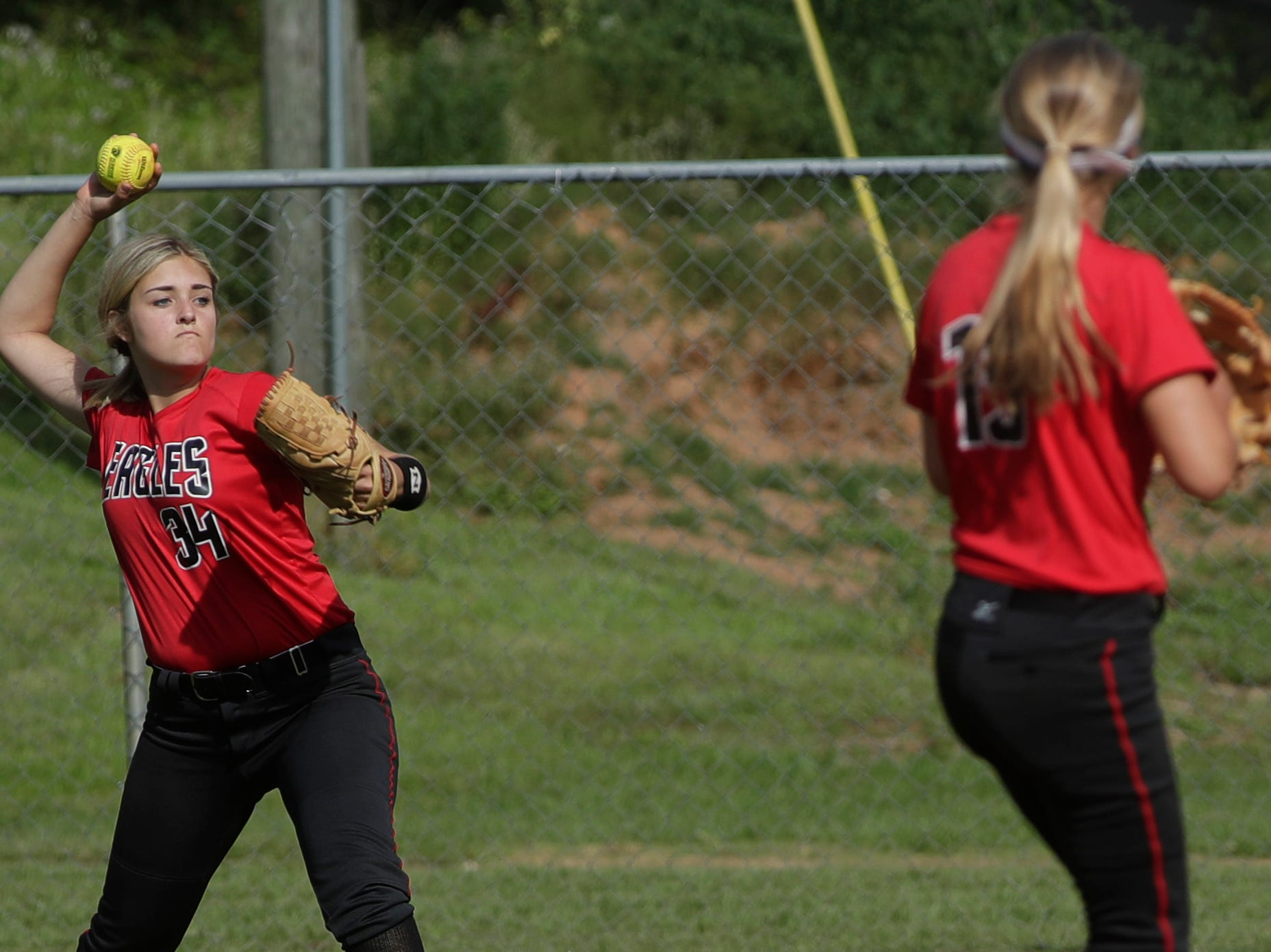 North Florida Christian's Ramsey Shiver (34) throws the ball during the 1-3A regional final game between NFC and University Christian at NFC Tuesday, May 14, 2019. UC defeated NFC 16 to 11 to advance to the state tournament.