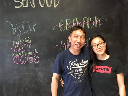 Alex Bui and his daughter Lexus Nguyen, 16, Tallahassee three months ago from New Orleans and opened New Orleans Seafood.