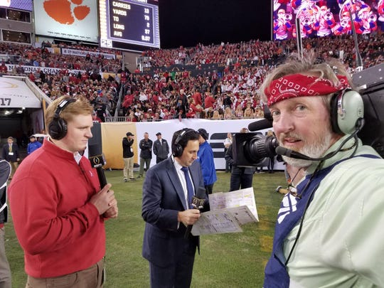 """Tigger Gray was operating one of the """"Homer Cam"""" cameras for ESPN's broadcast of the 2017 National Championship between Alabama and Clemson."""