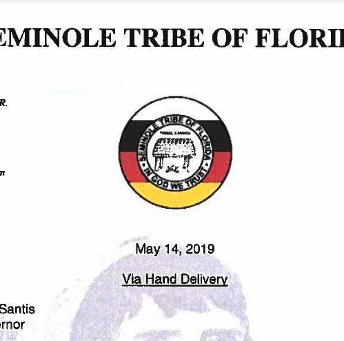 Read the letter to Gov. DeSantis from the Seminole Tribe of Florida | Document