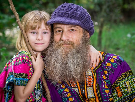 Florida State University film school graduate Thomas Jackson, right, with his  daughter, Melody.
