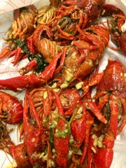 Vietnamese-style, boiled crawfish at New Orleans Seafood on Mahan.