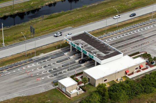 The Interstate 75 Alligator Alley toll booth.