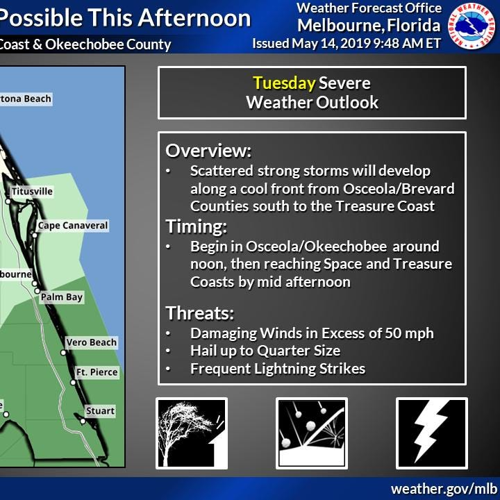 More storms could bring torrential rain, hail and lightning to Treasure Coast